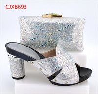 Wholesale Gold Shower Set - 2017 New Fashion Italian Shoes with Matching bags For Party african Shoes And Bags Set for Wedding shoe and bag set