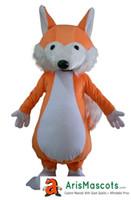 mascote bonito venda por atacado-Tamanho adulto Bonito Fox mascote Traje Mascotes Roupas Animal Mascotes para Publicidade Equipe Mascote Design de Personagens Deguisement Mascotes
