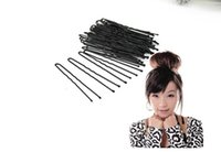 Wholesale 2017 hot sale cm Black U Shape Hair Clips Hair Styling Tool Twist clips