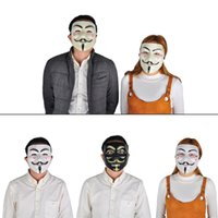 Wholesale Costume Guys - Party Masks V for Vendetta Mask Anonymous Guy Fawkes Fancy Dress Adult Costume Accessory Party Cosplay Masks Halloween Toys 0708073