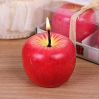 Wholesale Packing Candle Gift - Apple Shaped Fragrant Candle Christmas Gift 12 Pack Christmas Eve Gift Big Size Diy Ideas Christmas Scented Candles
