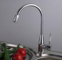 Wholesale Mixer Zinc Faucet - Wholesale- hot and cold water zinc alloy kitchen faucet, chrome mixer tap