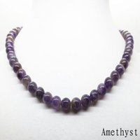 Wholesale Tiger Necklaces For Men - 8mm fashion Hot 45cm Natural Stone Lava Tiger Eye Beaded Choker Necklace For Women Men Jewelry