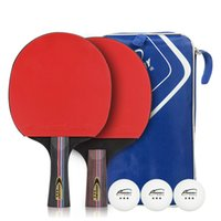 Wholesale Raquets Tennis - DHL Free Shipping Table Tennis Raquets Training Racquetss Big Brand Two Raquets Three Balls A Set High Quality Customizable LOGO