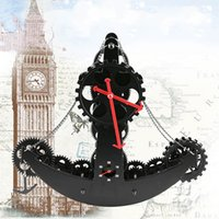 Wholesale Digital Table Design - Classic Decoration Wall Clocks Pirate Ship Gear Desk  Table Clock Large Size Decor For Study Room Living Room Boat Designed Clock