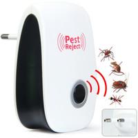 mosquito eletrônico ultra-sônico de mouse venda por atacado-Na Venda Mosquito Assassino Eletrônico Multi-Propósito Ultrasonic Pest Repeller Rato Rato Repelente Anti Roedor Bug Rejeitar Ect