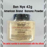 Wholesale Nutrition Powders - New Ben Nye luxury powder 42g new natural flour powder nutrition banana bright white long-term 50pcs