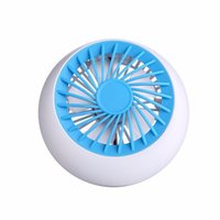 Wholesale Smallest Electric Fans - Wholesale- 2017 Sago Rechargeable Fan USB Portable Desk Mini Fan for Office USB electric air conditioner small fan Angle Adjustment 1200mA