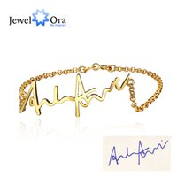 Wholesale Sterling Silver Personalized Charm - Personalized 925 Sterling Silver Handwritten Bracelets For Women Infinity Trendy Bracelets & Bangles ( BA101513) 17401
