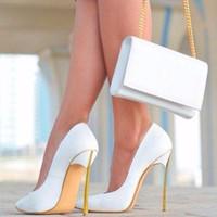ingrosso scarpe da stili di celebrità-Scarpe di marca LTTL Nuova settimana della moda di arrivo Celebrity Style Donna Scarpe da sposa Point Toes tacco alto scarpe da festa a spillo