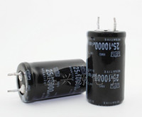Wholesale Electrolytic Capacitor 25v - Wholesale- 25V 10000UF 10000UF 25V High frequency low resistance Electrolytic Capacitors Size:22X40