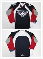 Wholesale American Hot Womens - Customize Mens Womens Kids WHL Tri-City Americans 100% Embroidery Custom Any Name Any No. Hot Sale Ice Hockey Jerseys S-6XL Goalit Cut