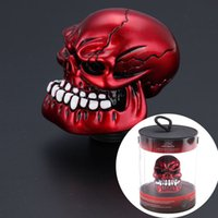 Red Skull Head Universal Car Truck manual Stick Gear Shift botão de alavanca Shifter