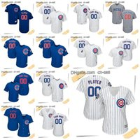 Wholesale Custom Name Jerseys - ANY NAME &NO. JERSEYS Men Women Kids Baseball Jerseys Chicago Cubs Custom Alternate Home Road Grey White blue COOL flex base Mix orders