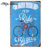 Wholesale Ordering Metal Art Wholesale - Wholesale- [ Mike86 ] RIDE MY BICYCLE Tin Sign ART Metal Craft Vintage Home Office Poster Decor AA-287 Mix order 20*30 CM