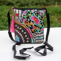 Wholesale Wholesale Pocket Pc S - Women 's Fashion Cross Body Cell Phone Pocket Shoulder Bags Chinese Style National Embroidery Flowers Wholesale Freeshipping