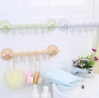 colisões de plástico venda por atacado-Parede criativa hookshome acessórios do banheiro da cozinha 3 cores ajustável duplo otário cabide de plástico artigos diversos porta da parede titular otário ganchos