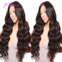 Wholesale sell human hair for wigs resale online - Lace Front Wig Natural color Loose Wave Brazilian Malaysian Virgin Human Hair Full Lace Wig Unprocessed Cheap Price For Selling