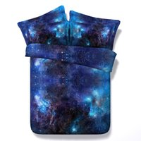 Wholesale Romantic Bedding Sets - Hot Sale 3 Styles Blue Romantic Galaxy 3D Printed Bedding Sets Twin Full Queen King Size Bedspreads Duvet Cover Pillow Shams Comforter 3 4pc