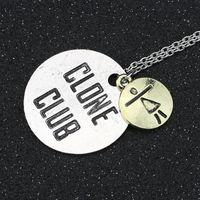 Wholesale Link Clone - Wholesale-Orphan Black Necklace Clone Club Vintage Retro Antique Silver Pendant Movie Jewelry Wholesale