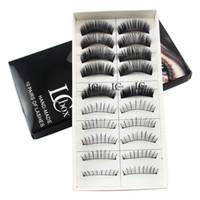 Wholesale Types False Eyelashes - Wholesale Free Shipping High-quality Brand Two Types Mixed Beauty False Eyelashes 10 Pairs Per Set 22g