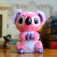 Atacado- Original Ty Collection Pink Koala Big Eyes Beanie Boos Brinquedos de felpa para crianças Bears Lovely Baby Gifts Kawaii Cute Stuffed Animals Dolls