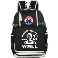 Wholesale Boy Wall Letters - John Wall backpack New star fans daypack Good player schoolbag Basketball rucksack Sport school bag Outdoor day pack