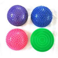 ingrosso yoga gonfiabile-Il mezzo gonfiabile di Fitball delle palle di yoga di mezzi di yoga del PVC si esercita la palla d'equilibratura di forma fisica di GYM Pilates dell'istruttore dell'addestratore del addestratore che spedice liberamente