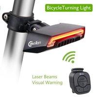 bisiklet lazer ışını toptan satış-Meilan X5 Bisiklet Akıllı Arka Işık Bisiklet Kablosuz Uzaktan Dönüm Kontrol Sinyali Kuyruk Lambası Lazer Işın USB Şarj Edilebilir Bisiklet