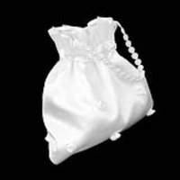 Venda Por Atacado Bridal Bridalmaid Cetim Flor Decorado Dolly Bag Handbag Wedding Flower Girl Cesta Decoração Supply (Flower Pearl)