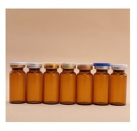 enjeksiyon şişeleri berrak cam toptan satış-2017 Yeni 10 ml Temizle Enjeksiyon Cam Flakon Kapak Kapalı Çevirmek, Amber Cam Şişe, 10cc Cam Konteynerler