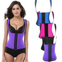 Wholesale Womens Sexy Corsets - Latex Body shaper for Women Sexy Lady Shapewear Waist Trainer Cincher Loseweight Strap Belt Shaper Burning Slim Womens Corset Bustier RF036