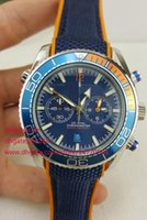 Wholesale Japanese Quartz Chronograph Movements - 2017 Mens Luxury high quality Brand watches profession CO-AXIAL Movement Japanese chronograph blue dial Mens Sport dive Racing Watches