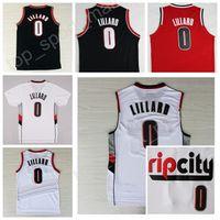 Wholesale Top Sale Cheap Jerseys - 2017 Men Rip City 0 Damian Lillard Jersey Vintage RipCity Damian Lillard Basketball Jerseys Cheap Sports All Stitching Top Quality On Sale