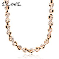 DFN101 Ear of Golden Wheat Chokers CZ diamant 18K Pendentifs en plaqué or Bijoux en gros pour Wonem Gift colares joias