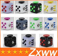 Wholesale Metal Cubes - Magic Fidget Cube Anti-anxiety kickstarter Decompression Toys Adults Stress Relief antsy anxiety shakes Toy Kids Gift 11 Colors by DHL