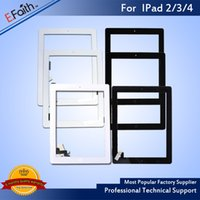 ipad touch home button großhandel-Für iPad 2, iPad 3, iPad 4 Touchscreen Digitizer Ersatz Home Button Adhesive