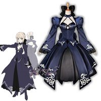 Wholesale Saber Fate Zero - Malidaike Anime Fate Zero Nalter 2nd Saber Full Dress Formal Dress Uniform Cosplay Costumes