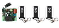 Wholesale key 315mhz - Wholesale- New AC 220 V 1CH Wireless Remote Control Switch System 1pcs Receiver & 3pcs 2 Keys metal waterproof Remote 315MHZ 433MZH