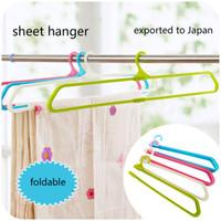 Wholesale Towels Clothes - Large Size Folding Sheet Pillowcase Towel Rack Quilt Windproof Clothes Hanger