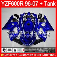kit de carenado yamaha thundercat al por mayor-azul brillante 8 obsequios para YAMAHA Thundercat YZF600R 02 03 04 05 06 07 55NO14 YZF 600R 96-07 YZF-600R 2002 2003 2004 2005 2006 2007 Kit de carenado