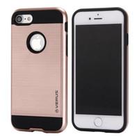 Wholesale Iphone 4s Cases Slim - VERGE Dual Layered Hard Tough Case Hybrid Shockproof Slim Armor back cover for iPhone X 10 ten 8 7 6 6S Plus 8Plus 7plus 6plus 5 5S SE 4 4S