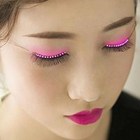Wholesale Wholesale C7 Light Bulbs - CRESTECH LED eyelashes Lights LED lashes Fashion Glowing Eyelashes Waterproof for Nightclub Party and Dance Concert Christmas Halloween