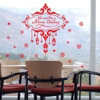 Compra Citazioni Domestiche Di Natale-* Auguriamo un Buon Natale di Windows Citazioni Wall Stickers per carta da parati Living Room Decor 3D decalcomania del vinile della parete del PVC di Capodanno
