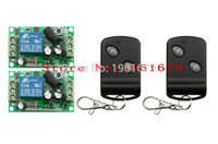 Wholesale Rf Channel Transmitter - Wholesale-DC 12 V RF wireless remote control switch 1 channel Intelligent home system 200M 2 transmitter + 2 receiver