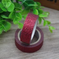 Wholesale New Scrapbooking Supplies - Wholesale- 2016 2017 New 1x Red Glittering Tape For Decoration DIY Stationery School Supplies Scrapbooking Tools Decorative Masking Tape 3M