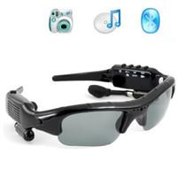 Wholesale new sunglasses dvr resale online - Hot Sale GB in Smart Sunglasses Sports DVR Mini DV Audio Video Recorder Portable Camcorders Video Camara MP3 Player Earphones