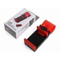 Wholesale car steering phone holder for sale - Group buy Car Steering Wheel Phone Socket Holder SMART Clip Car Bike Mount for iPhone6 iphone plus s5 S4 NOTE easy use GPS with retail package