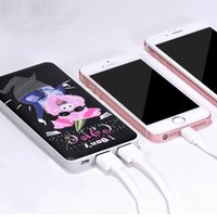 Wholesale Usb Power Source Wholesale - HOCO B1 10000mAh Painted Sculptures Portable Power Source Universal Double USB For i7 Samsung ZTE Xiaomi HUAWEI With Retail Package