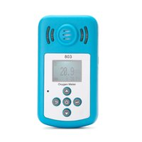 Wholesale NEW Oxygen Meter Portable Oxygen O2 Concentration Detector with LCD Display Sound light Alarm air quality monitor gas analyzer
